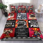 Funny Pug Happy Festivus Bedding Set Bedroom Decor