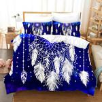 3d Blue Royal White Dream Catcher Bedding Set Bedroom Decor