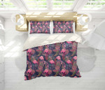 3d Black Red Flamingo Leaves Bedding Set Bedroom Decor