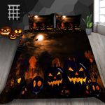 Pumpkin Smile Horror Printed Bedding Set Bedroom Decor