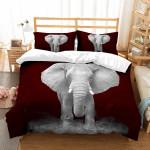 3d Elephant Burgundy Bedding Set Bedroom Decor