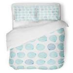 Blue Seashells Bedding Set Bedroom Decor