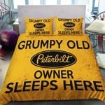 Grumpy Old Peterbilt Car Owner Sleeps Here Bedding Set Bedroom Decor