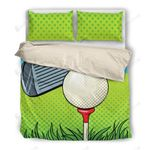 Golf Green Dots Bedding Set Bedroom Decor
