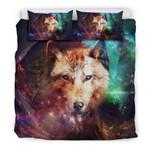 Wolf Galaxy Power Bedding Set Bedroom Decor