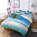 Resort Palm Tree Holiday Printed Bedding Set Bedroom Decor