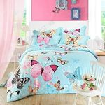 Butterflies Colorful Spring Come Bedding Set Bedroom Decor