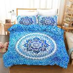 3d Blue Bohemian Elephant Bedding Set Bedroom Decor