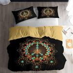Peace Sign Circle Pattern Printed Bedding Set Bedroom Decor