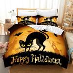 3d Black Cat Halloween Bedding Set Bedroom Decor