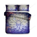 Damara Beautiful White Lotus Floral Series 3d Bedding Set Bedroom Decor
