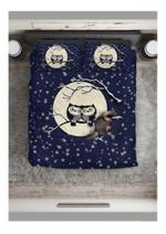 Owl Snowy Nights Printed Bedding Set Bedroom Decor