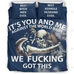 It's You And Me Against The World Baby Bedding Set Bedroom Decor