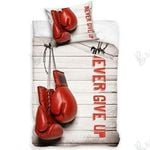 Never Give Up Boxing Gloves Bedding Set Bedroom Decor