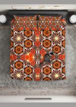 Bee Mandala Abstract Pattern Printed Bedding Set Bedroom Decor