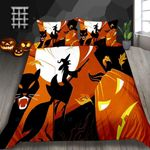Witch Ride Broom Printed Bedding Set Bedroom Decor