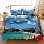 3d Airplane Blue Sky Bedding Set Bedroom Decor
