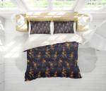 3d Black Yellow Floral Bedding Set Bedroom Decor