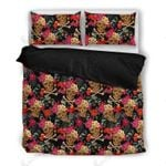 Flowers Andkulls Pattern Printed Bedding Set Bedroom Decor