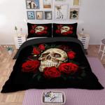 Romantic Skull Rose Printed Bedding Set Bedroom Decor