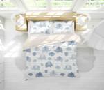 3d Blue Cartoon Elephant Bedding Set Bedroom Decor