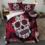 Skull Skeleton Black Death's Head Printed Bedding Set Bedroom Decor