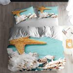 Starfish Blue Printed Bedding Set Bedroom Decor