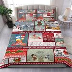 Christmas I Love Being In Loved With You Bedding Set Bedroom Decor