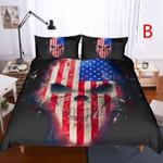 3d Skull American Dream Bedding Set Bedroom Decor