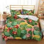 Art Pattern Cactus Bedding Set Bedroom Decor