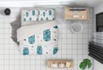 3d Cartoon Blue Bottle Bedding Set Bedroom Decor