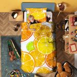 Orange Fruit Bedding Set Bedroom Decor