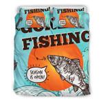 Fishing Season Is Open Orange Bedding Set Bedroom Decor
