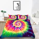 Rainbow Tie Dye Printed Bedding Set Bedroom Decor
