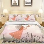 3d Cartoon Girl Merry Christmas Bedding Set Bedroom Decor