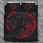 Red Moon Raven Black Bedding Set Bedroom Decor