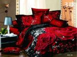 Black Rose Pattern Bedding Set Bedroom Decor