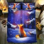Fox Lonely In Winter Printed Bedding Set Bedroom Decor
