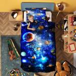 Galaxy Planet Space Bedding Set Bedroom Decor