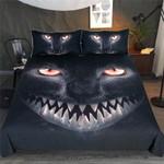 Black Angry Cat Bedding Set Bedroom Decor
