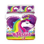 3d Magical Colourful Unicorn Magic Bedding Set Bedroom Decor