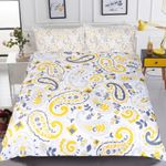 Yellow Paisley Pattern Bedding Set Bedroom Decor