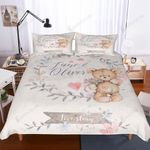 Teddy Bear Love Story Printed Bedding Set Bedroom Decor