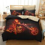 Motorcycle Fire Bedding Set Bedroom Decor