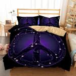 Galaxy Purple Peace Printed Bedding Set Bedroom Decor