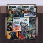 Black Labrador Angels Sometimes Have Paws Bedding Set Bedroom Decor