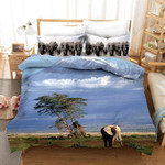 3d Elephant Blue Sky Comfortable Bedding Set Bedroom Decor