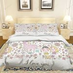 3d Cartoon Animal Flower Bedding Set Bedroom Decor