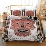 3d Abstract Skull Pattern Bedding Set Bedroom Decor