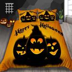 Pumpkin Smile Halloween Printed Bedding Set Bedroom Decor